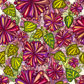 Flowers seamless pattern. Stock Photography