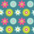 Flowers seamless pattern Stock Photos