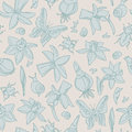 Flowers seamless pattern Stock Photography