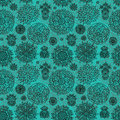 Flowers seamless pattern with decorative Stock Image