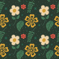 Flowers seamless pattern eps vector format Stock Photos