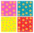 Flowers seamless patterns Royalty Free Stock Images