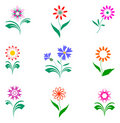 Flowers set, design elements. Royalty Free Stock Photography
