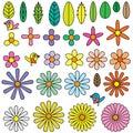 Flowers shape element Royalty Free Stock Photo