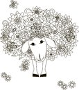 Flowers sheep