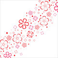 Flowers stripe.Vector. Stock Photography