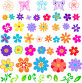 Flowers Vector Illustration Royalty Free Stock Images