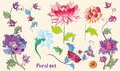 Flowers Vector Set With Lotuse...