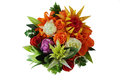Flowers from vegetables nosegay is executed different Royalty Free Stock Photo