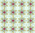 Flowers vintage pattern wallpaper Stock Images