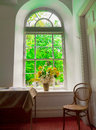 Flowers in window Royalty Free Stock Photo