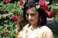 Flowers woman Стоковая Фотография