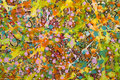 The flowery background sloppy with colourful paint Royalty Free Stock Photos