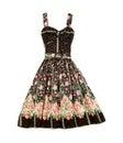 Flowery evase sweetheart dress Royalty Free Stock Photo