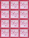 Flowery Table Cloth Stock Photo