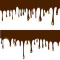 Flowing chocolate drops Royalty Free Stock Image