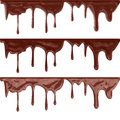 Flowing chocolate drops background illustration of Stock Images