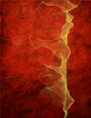 Flowing Form On Red Grunge