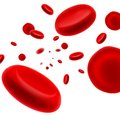 Flowing red blood cell illustration of on isolated white background Royalty Free Stock Photo