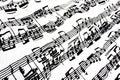 Flowing sheet music Royalty Free Stock Photo