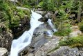 Flowing water of mountain stream Royalty Free Stock Images