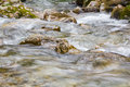 Flowing water on the rocks speed detail Royalty Free Stock Photography