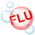 Flu infection Royalty Free Stock Photo