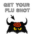 Flu shot illustration Royalty Free Stock Photos