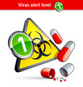 Flu Virus alert number one Royalty Free Stock Photography