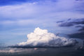 Fluffy cloud and atmospheric photo of Stock Photography
