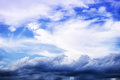 Fluffy cloud and atmospheric photo of Royalty Free Stock Photo