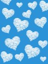 Fluffy cloud of the shape of heart background Stock Photography