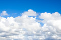 Fluffy clouds beautiful white on blue sky Royalty Free Stock Photo