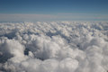 Fluffy clouds and blue skies Royalty Free Stock Photo