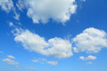 Fluffy clouds blue sky with white in sardinia Royalty Free Stock Photos