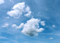 Fluffy clouds lovely white on a blue sky Stock Images