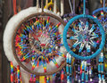 Fluffy dream catchers closeup image Stock Images