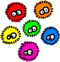 Fluffy Germs Royalty Free Stock Image