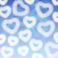 Fluffy hearts blue sky Stock Photo