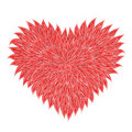 Fluffy Red Heart Stock Photo