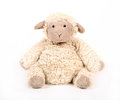 Fluffy white toy sheep. Royalty Free Stock Photo