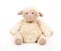 Fluffy white toy sheep. Royalty Free Stock Photo