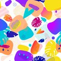 Fluid color badges set. Abstract shapes composition. Eps10 vector.seamless pattern Juicy bright modern ornament