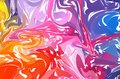 Fluid colorful shapes background. Rainbow Trendy gradients. Fluid shapes composition. Abstract Modern Liquid Swirl Marble flyer de Royalty Free Stock Photo
