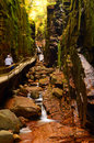 The Flume Gorge, New Hampshire Royalty Free Stock Photo