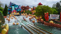 Flume ride at universal studios islands of adventure dudley do right s ripsaw falls is a log in orlando florida Royalty Free Stock Photos