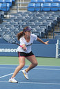 Flushing ny august professional tennis player anastasia pavlyuchenkova practices us open louis armstrong stadium billie jean king Stock Image