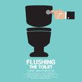 Flushing The Toilet Royalty Free Stock Photo