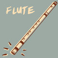 Flute illustrations of a retro style Stock Image