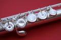 Flute keys macro Royalty Free Stock Photo